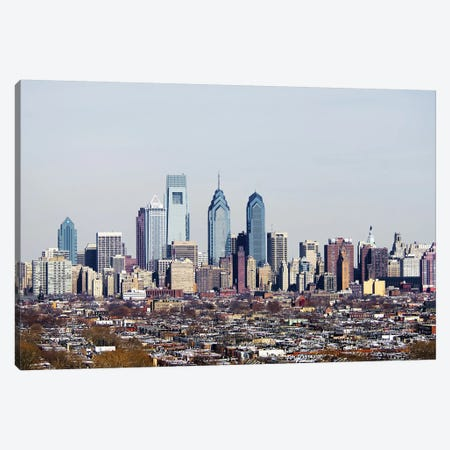 Buildings in a city, Comcast Center, Center City, Philadelphia, Philadelphia County, Pennsylvania, USA #2 Canvas Print #PIM7137} by Panoramic Images Canvas Artwork