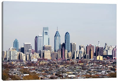 Buildings in a city, Comcast Center, Center City, Philadelphia, Philadelphia County, Pennsylvania, USA #2 Canvas Art Print
