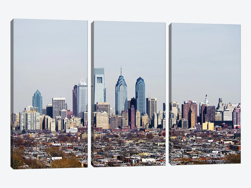 Buildings in a city, Comcast Center, Center City, Philadelphia, Philadelphia County, Pennsylvania, USA #2 by Panoramic Images 3-piece Art Print