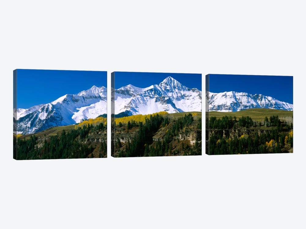 Snow-Covered Wilson Peak, Lizard Head Wilderness, Uncompahgre National Forest, San Miguel County, Colorado, USA by Panoramic Images 3-piece Canvas Art Print