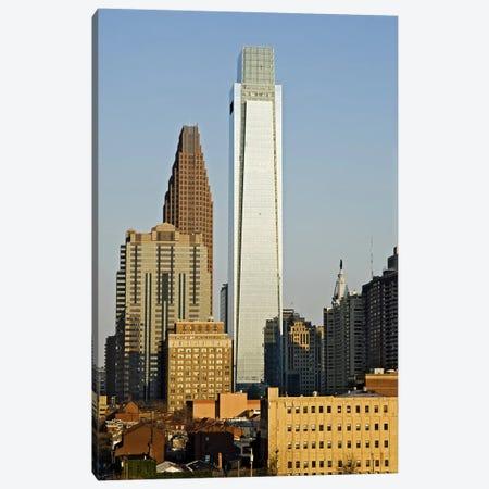 Comcast Center, City Hall, William Penn Statue, Center City, Philadelphia, Philadelphia County, Pennsylvania, USA Canvas Print #PIM7140} by Panoramic Images Canvas Artwork