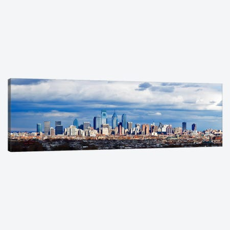 Buildings in a cityComcast Center, Center City, Philadelphia, Philadelphia County, Pennsylvania, USA Canvas Print #PIM7143} by Panoramic Images Canvas Artwork