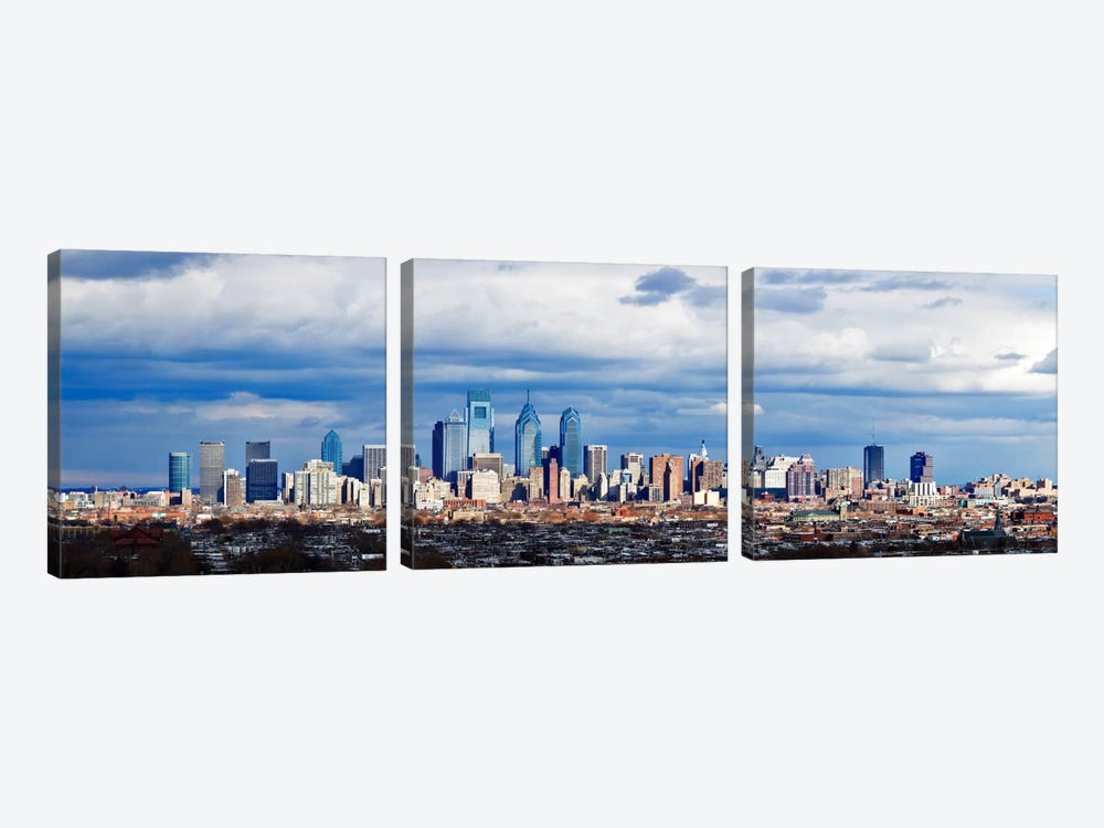 Buildings in a cityComcast Center, Center City, Philadelphia, Philadelphia County, Pennsylvania, USA by Panoramic Images 3-piece Canvas Wall Art