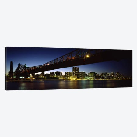 Bridge across a riverQueensboro Bridge, East River, Manhattan, New York City, New York State, USA Canvas Print #PIM7152} by Panoramic Images Canvas Art Print