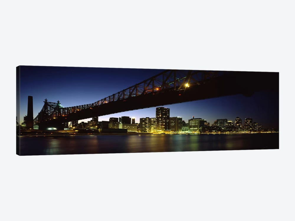 Bridge across a riverQueensboro Bridge, East River, Manhattan, New York City, New York State, USA by Panoramic Images 1-piece Canvas Artwork