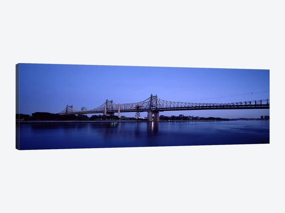 Bridge across a river, Queensboro Bridge, East River, Manhattan, New York City, New York State, USA #2 by Panoramic Images 1-piece Art Print