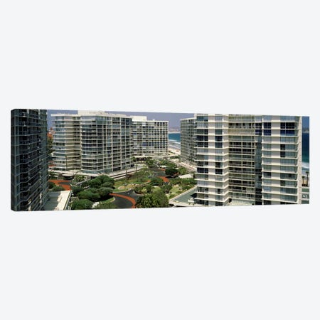 Condos in a city, San Diego, California, USA Canvas Print #PIM7160} by Panoramic Images Canvas Art