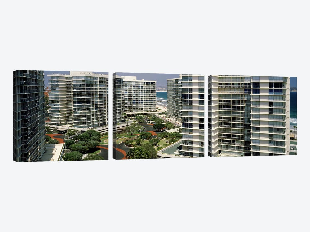 Condos in a city, San Diego, California, USA by Panoramic Images 3-piece Canvas Art Print