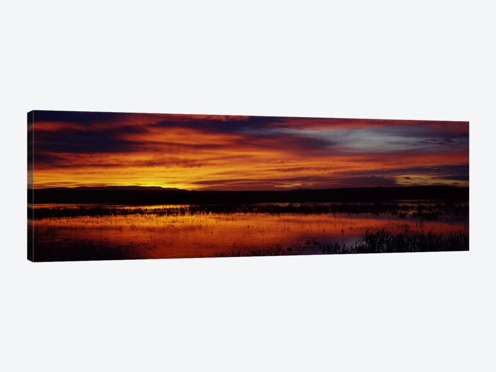 Majestic Cloudy Sunrise, Bosque del Apache National Wildlife Refuge, Socorro County, New Mexico, USA by Panoramic Images 1-piece Canvas Art
