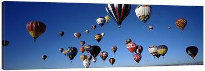Hot air balloons floating in skyAlbuquerque International Balloon Fiesta, Albuquerque, Bernalillo County, New Mexico, USA Canvas Art Print