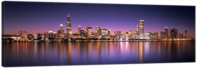Reflection of skyscrapers in a lake, Lake Michigan, Digital Composite, Chicago, Cook County, Illinois, USA by Panoramic Images Canvas Wall Art
