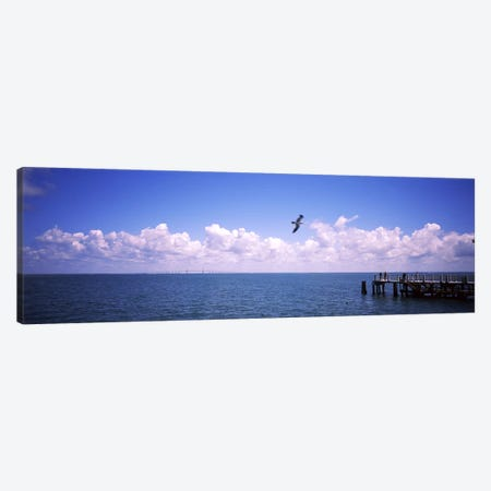 Pier over the sea, Fort De Soto Park, Tampa Bay, Gulf of Mexico, St. Petersburg, Pinellas County, Florida, USA Canvas Print #PIM7167} by Panoramic Images Art Print