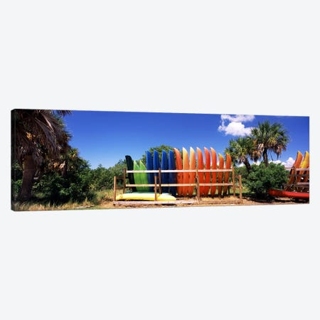 Kayaks, Gulf Of Mexico, Florida, USA Canvas Print #PIM7169} by Panoramic Images Canvas Wall Art