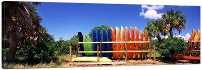 Kayaks, Gulf Of Mexico, Florida, USA Canvas Print #PIM7169