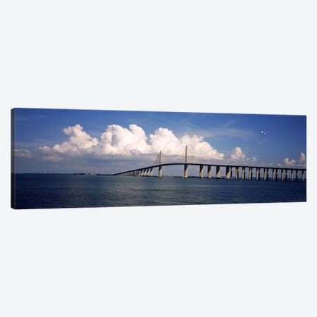 Suspension bridge across the bay, Sunshine Skyway Bridge, Tampa Bay, Gulf of Mexico, Florida, USA Canvas Print #PIM7171} by Panoramic Images Canvas Print