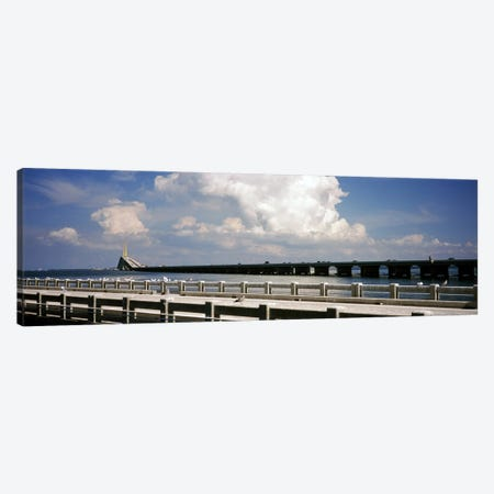Bridge across a bay, Sunshine Skyway Bridge, Tampa Bay, Gulf of Mexico, Florida, USA Canvas Print #PIM7172} by Panoramic Images Art Print