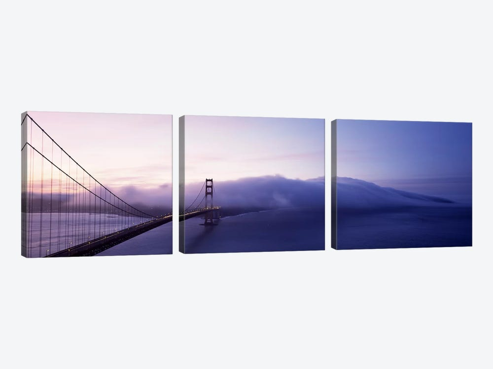 Bridge across the sea, Golden Gate Bridge, San Francisco, California, USA by Panoramic Images 3-piece Canvas Print