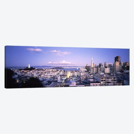 High angle view of a cityscape from Nob Hill, San Francisco, California, USA Canvas Print #PIM7183} by Panoramic Images Canvas Wall Art