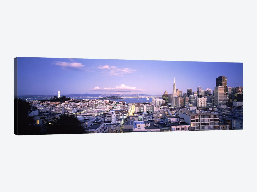 High angle view of a cityscape from Nob Hill, San Francisco, California, USA by Panoramic Images 1-piece Canvas Wall Art