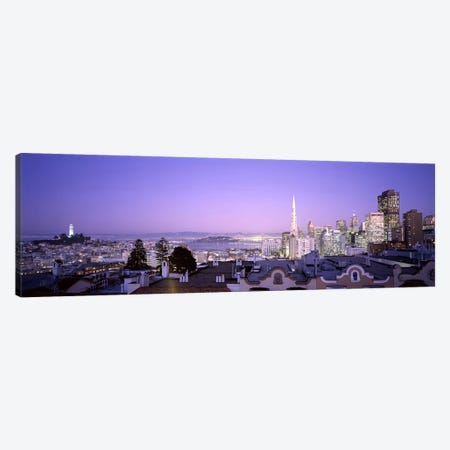 High angle view of a cityscape from Nob Hill, San Francisco, California, USA #2 Canvas Print #PIM7184} by Panoramic Images Art Print