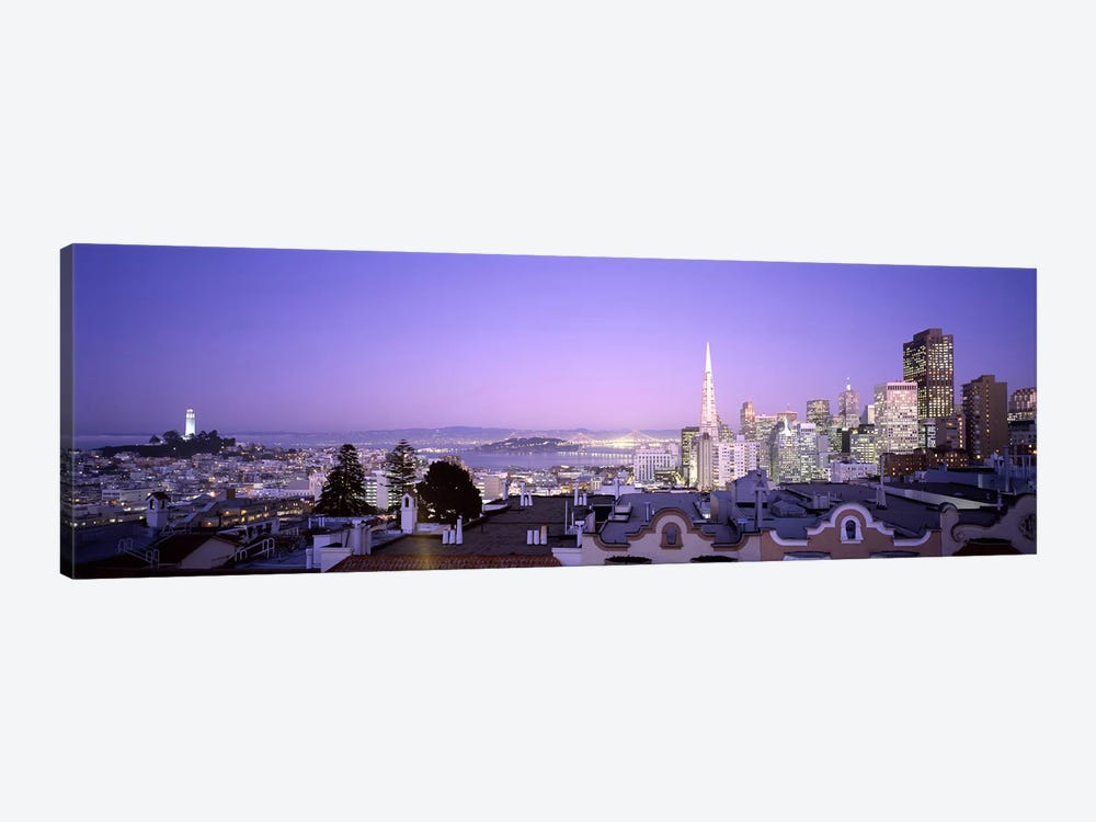 High angle view of a cityscape from Nob Hill, San Francisco, California, USA #2 by Panoramic Images 1-piece Canvas Art Print