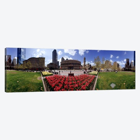 360 degree view of a city, Boston, Suffolk County, Massachusetts, USA Canvas Print #PIM7185} by Panoramic Images Canvas Print