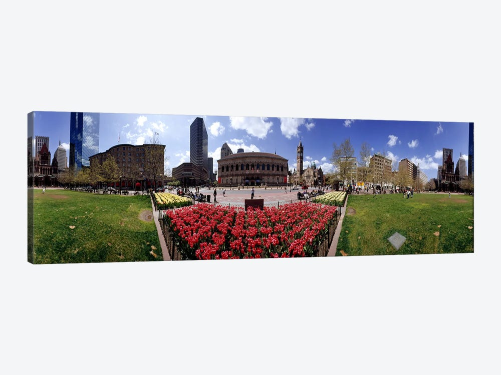 360 degree view of a city, Boston, Suffolk County, Massachusetts, USA by Panoramic Images 1-piece Canvas Wall Art