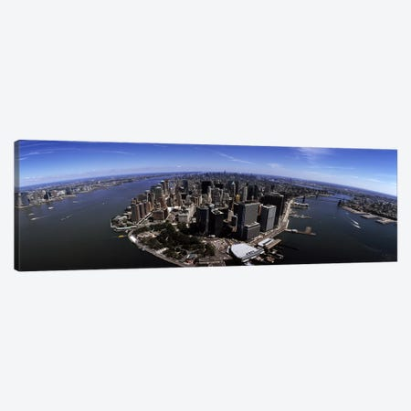 Aerial view of a city, New York City, New York State, USA Canvas Print #PIM7187} by Panoramic Images Canvas Art Print
