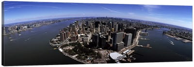 Aerial view of a city, New York City, New York State, USA Canvas Art Print