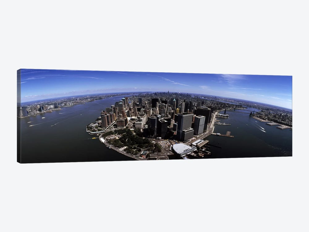 Aerial view of a city, New York City, New York State, USA by Panoramic Images 1-piece Canvas Artwork