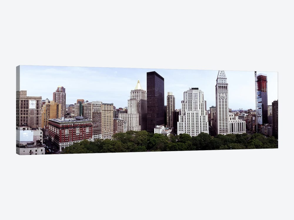 Skyscrapers in a city, Madison Square Park, New York City, New York State, USA by Panoramic Images 1-piece Art Print