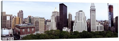Skyscrapers in a city, Madison Square Park, New York City, New York State, USA Canvas Art Print