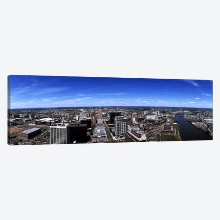 Aerial view of a cityscape, Newark, Essex County, New Jersey, USA Canvas Print #PIM7189} by Panoramic Images Canvas Artwork