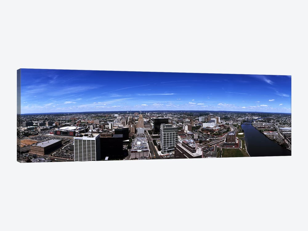 Aerial view of a cityscape, Newark, Essex County, New Jersey, USA by Panoramic Images 1-piece Canvas Art