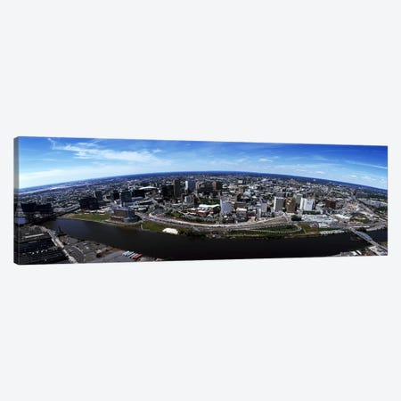 Aerial view of a cityscape, Newark, Essex County, New Jersey, USA #2 Canvas Print #PIM7190} by Panoramic Images Canvas Print
