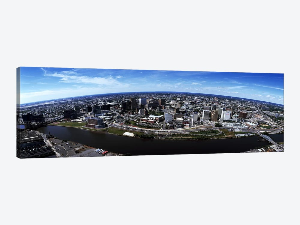 Aerial view of a cityscape, Newark, Essex County, New Jersey, USA #2 by Panoramic Images 1-piece Canvas Wall Art