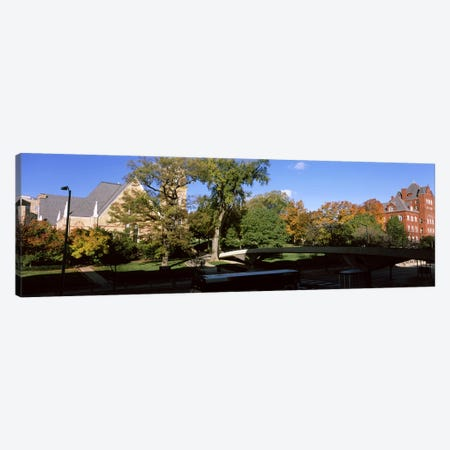 Pedestrian Bridge Over Park Street, University Of Wisconsin, Madison, Dane County, Wisconsin, USA Canvas Print #PIM7193} by Panoramic Images Canvas Art Print