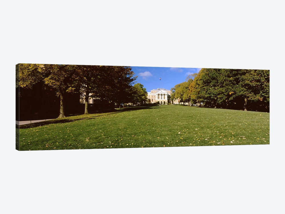 Lawn in front of a building, Bascom Hall, Bascom Hill, University of Wisconsin, Madison, Dane County, Wisconsin, USA by Panoramic Images 1-piece Canvas Wall Art