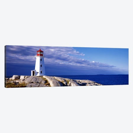 Low Angle View Of A Lighthouse, Peggy's Cove, Nova Scotia, Canada Canvas Print #PIM7200} by Panoramic Images Art Print