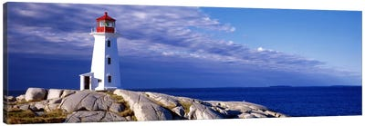 Low Angle View Of A Lighthouse, Peggy's Cove, Nova Scotia, Canada Canvas Art Print
