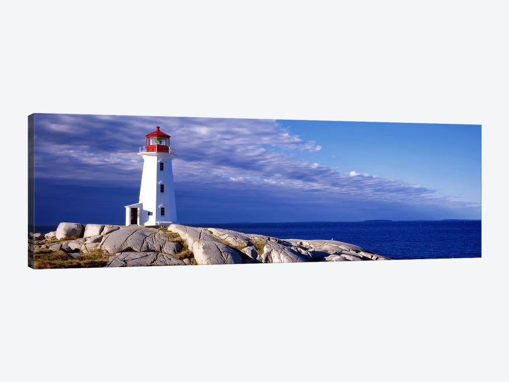 Low Angle View Of A Lighthouse, Peggy's Cove, Nova Scotia, Canada by Panoramic Images 1-piece Canvas Art Print