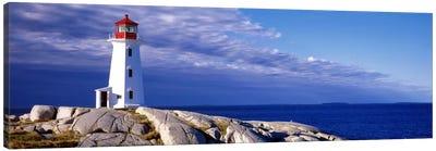 Low Angle View Of A Lighthouse, Peggy's Cove, Nova Scotia, Canada Canvas Art Print