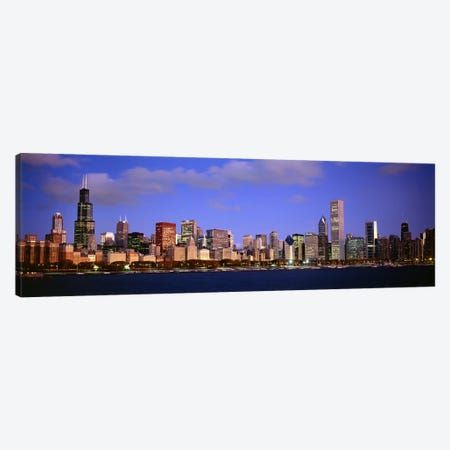 Downtown Skyline At Dusk, Chicago, Cook County, Illinois, USA Canvas Print #PIM7201} by Panoramic Images Canvas Art Print