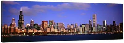 Downtown Skyline At Dusk, Chicago, Cook County, Illinois, USA Canvas Print #PIM7201