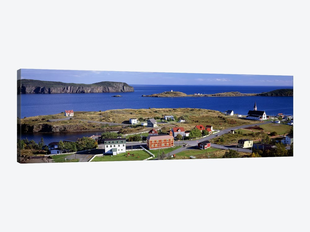 Buildings at the coast, Trinity Bay, Trinity, Newfoundland Island, Newfoundland and Labrador Province, Canada by Panoramic Images 1-piece Canvas Art Print