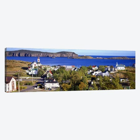 Buildings at the coast, Trinity Bay, Trinity, Newfoundland Island, Newfoundland and Labrador Province, Canada #2 Canvas Print #PIM7203} by Panoramic Images Canvas Print