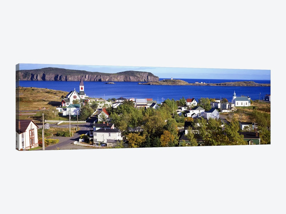 Buildings at the coast, Trinity Bay, Trinity, Newfoundland Island, Newfoundland and Labrador Province, Canada #2 1-piece Canvas Art