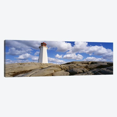 Low Angle View of A LighthousePeggy's Cove, Nova Scotia, Canada Canvas Print #PIM7205} by Panoramic Images Canvas Artwork