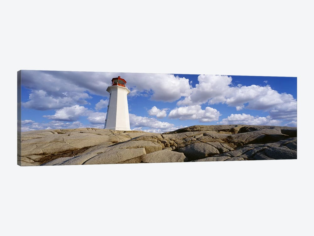Low Angle View of A LighthousePeggy's Cove, Nova Scotia, Canada by Panoramic Images 1-piece Canvas Wall Art