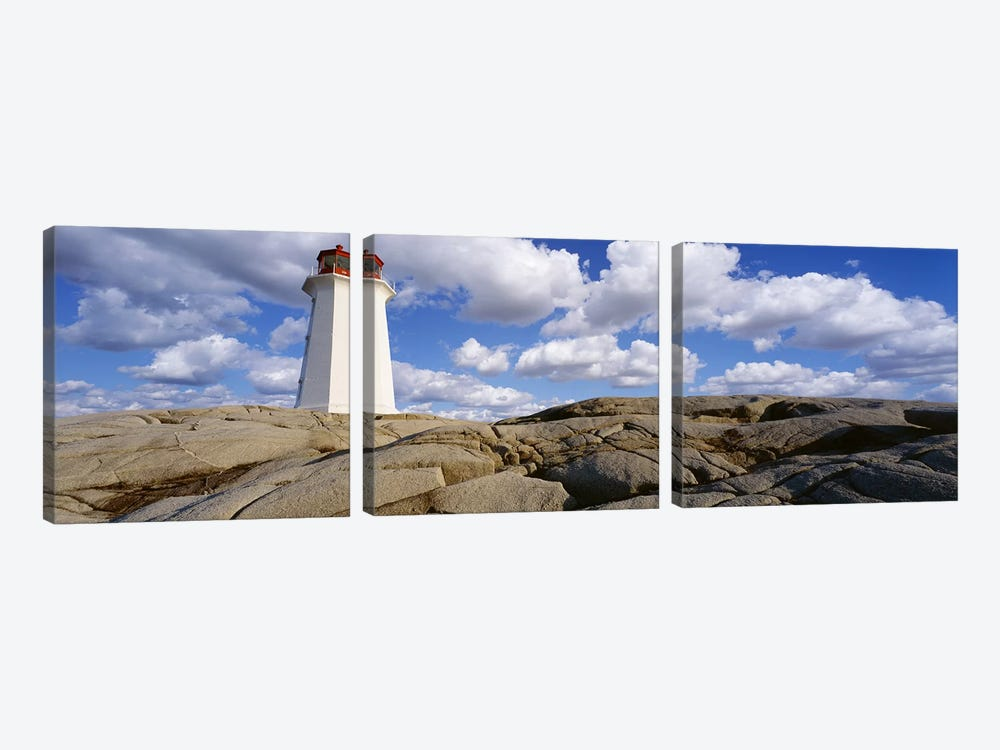 Low Angle View of A LighthousePeggy's Cove, Nova Scotia, Canada by Panoramic Images 3-piece Canvas Artwork